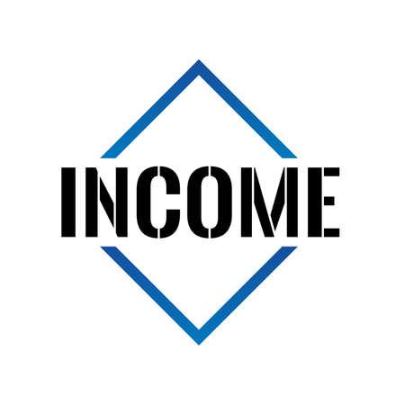 Triangle de revenu ou icône de vecteur ligne pyramide art