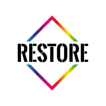 Restore Triangle or pyramid line art vector icon
