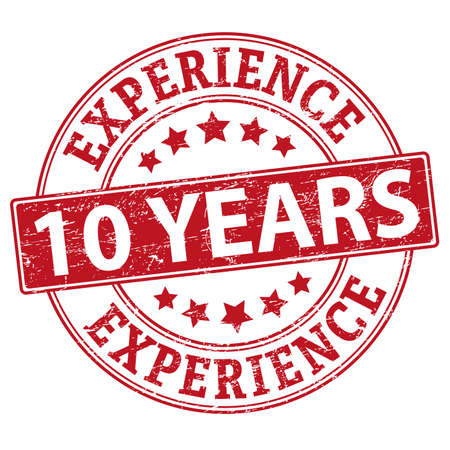 10 years experience vector web icon illustration isolated Vector Illustratie