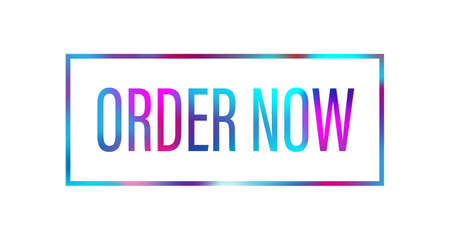 order now word with pink blue color suitable for card icon or typography logo design