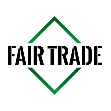 Fair Trade Triangel Cone Icon Vector sign with text on white background