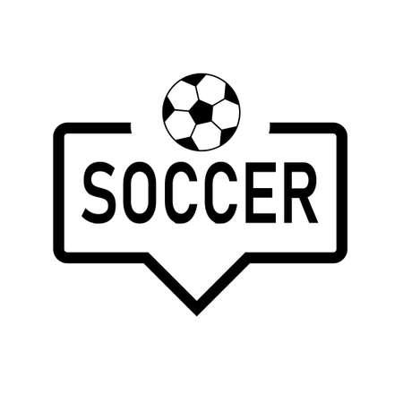 Speech Bubble SOCCER with icon football, soccer ball. Vector Illustration. Illustration