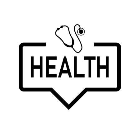 health web speech bubble icon with stetoscope