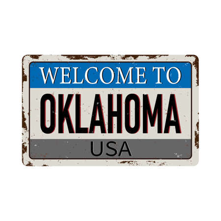 Welcome to Oklahoma vintage grunge poster, vector illustration