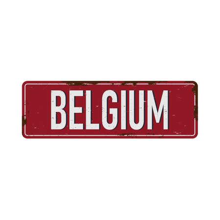 Belgum Vintage blank metal sign board Rusty effect tin plate