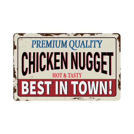Vintage metal sign - Delicious Chicken Nuggets Dinners