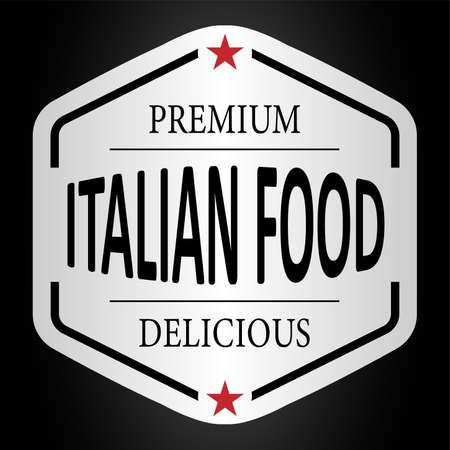 premium quality delicious italian food paper badge
