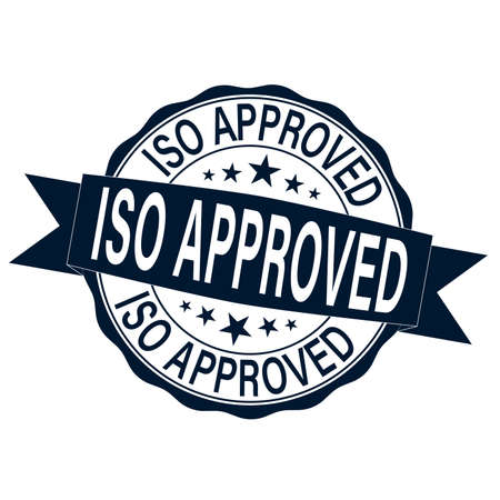 ISO Approves label illustration Rubber Stamp on white background Çizim