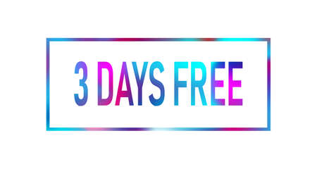 First 2 month free color neon sign icon. Special offer symbol. Stockfoto - 129908190