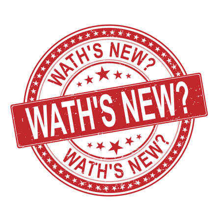 waths new Rubber Stamp on white background