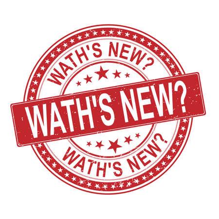 waths new Rubber Stamp on white background Illusztráció
