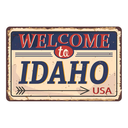 Stand Welcome to Idaho of the United State. Vector illustration. Ilustração