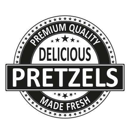 delicious premium quality made fresh stamp wen label on a white background