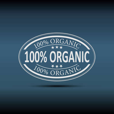 100 organic vector   label design on white background