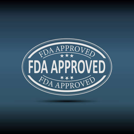 fda approved sign. fda approved speech bubble. fda approved tag. fda approved banner 写真素材