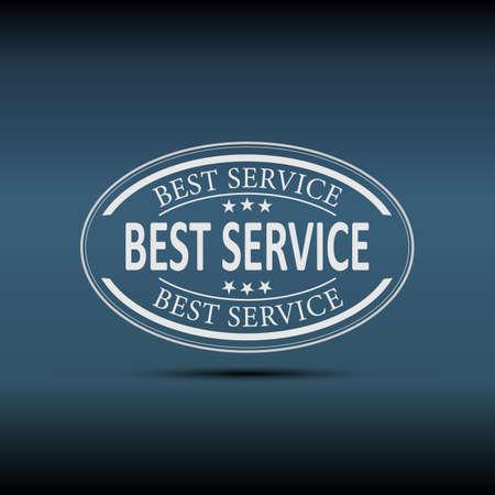 modern white best service button on a blue Background Stock Illustratie