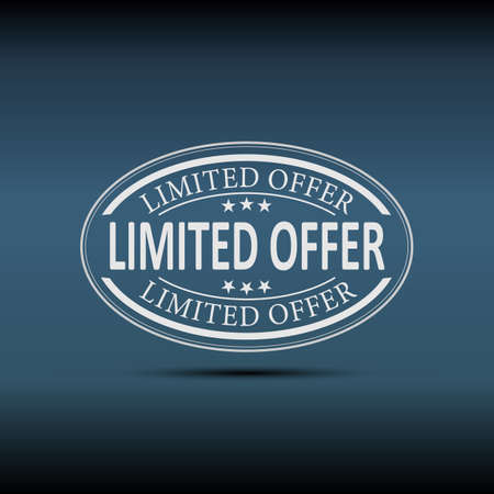 Limited Offer white Vector Icon Design on a blue bgackground