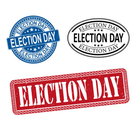 Election Day banner web Vector Illustration Set on a white background