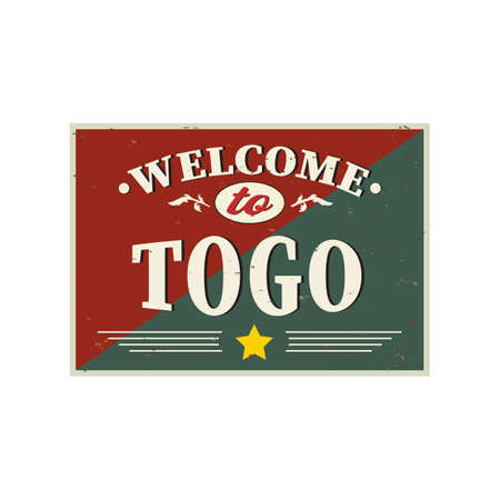 Togo country welcome sign or stamp. Vector illustration