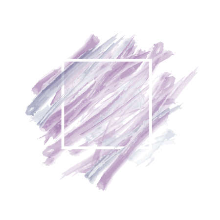 Grunge abstract background brush paint texture design acrylic stroke poster illustration vector over square frame.