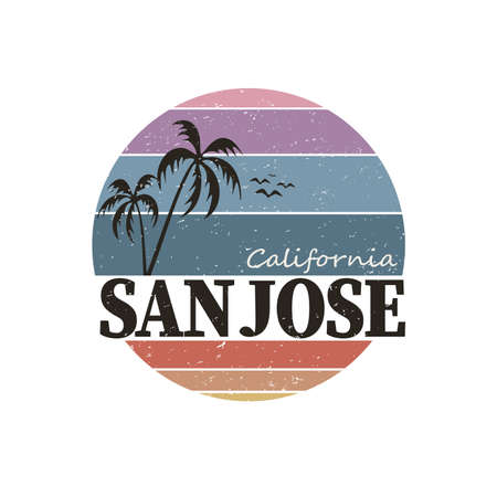 San Jose typography, graphics, vectors on a white background Ilustrace