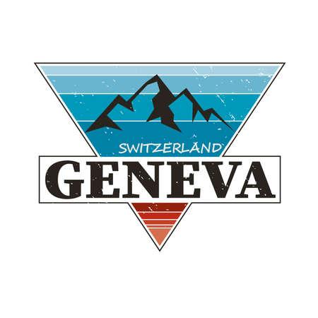 City of Switzerland. Editable   design.
