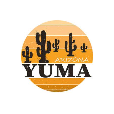 Yuma city travel destination. vector shirt logo Иллюстрация
