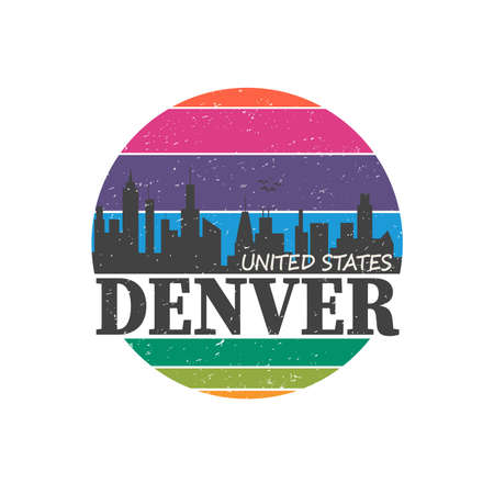 DENVER City, SLOGAN PRINT VECTOR on a white background