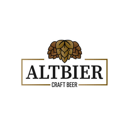 Altbier logo, bar and restaurant, symbol, icon with flat style isolated on white background. Suitable for business, company, print, cover, web. vector illustration