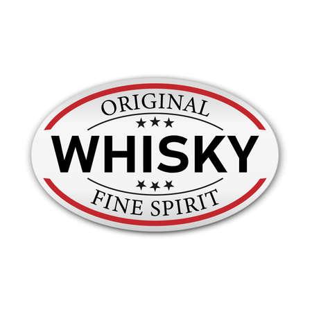 Original Whisky fine spirit button label banner icon Sticker Thai design, on white background vector