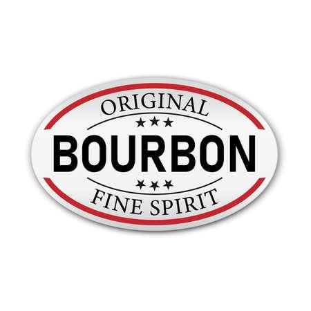 Original Bourbon vintage label sign on a white background