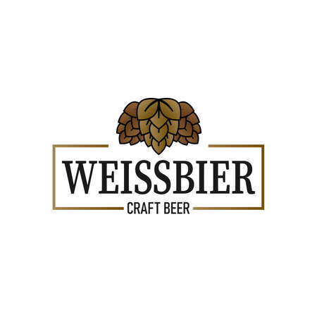 Weissbier Beer Vector Design Craft beer logo graphic. Great for menu, label, sign, invitation or poster.