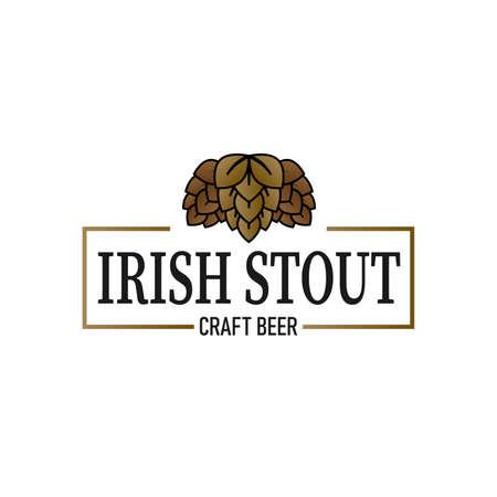 Irish Stout Beer vintage sign logo on a white background Ilustração