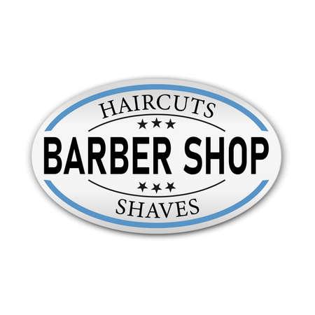 Barbershop simple minimalist logo design on a white background