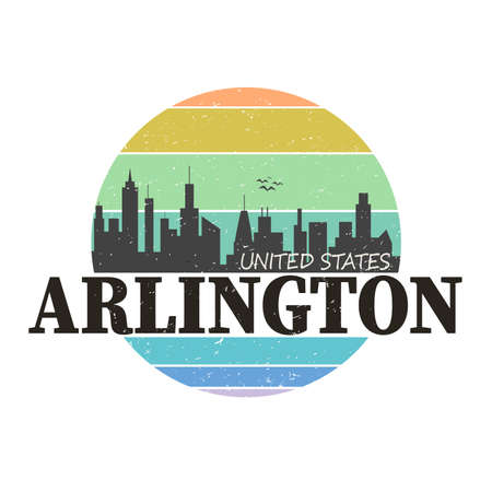 Arlington typography design vector, for t-shirt, poster and other uses Ilustração