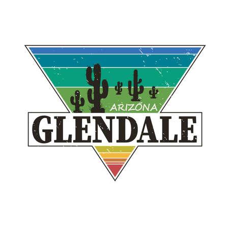 Grunge rubber stamp or label with text Glendale, Arizona written inside, vector illustration Ilustração