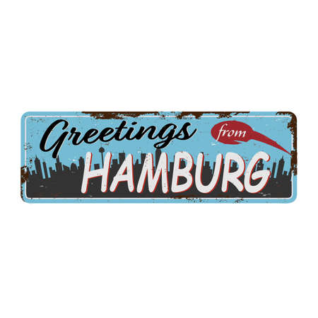 Hamburg city in germany is a beautiful destination to visit for tourism. Illustration