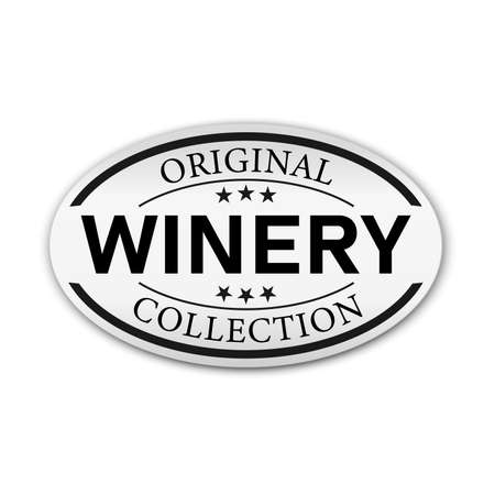 Wine label isolated on white background. Design element.