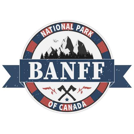 Banff national park grunge rubber stamp on white background, vector illustration Vector Illustration