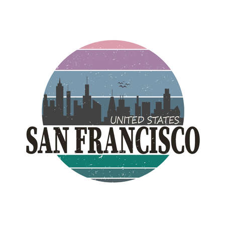 San Francisco symbol t-shirt or printing  sign