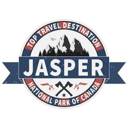 Top travel destination Jasper National Park Canadian mountains icon. Simple illustration of Canadian mountains vector icon for web Illusztráció