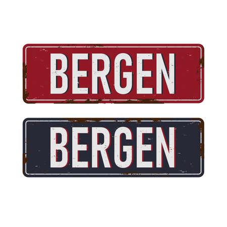 Bergen Vintage sign tourist attractions in Norway