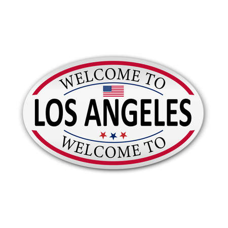 Los Angeles - California - USA - vector illustration on a white background