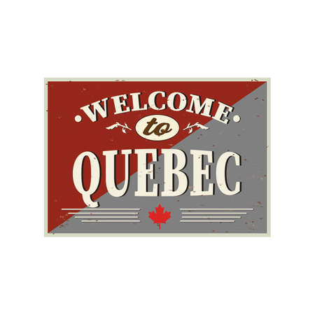 welcome to Quebec Canada. Vector modern style calligraphy. 일러스트