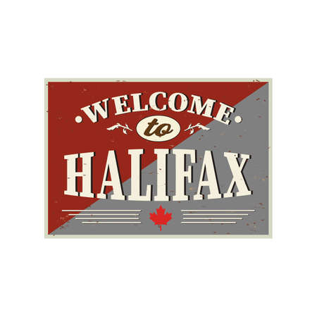 Halifax greeting card vector lettering design poster element