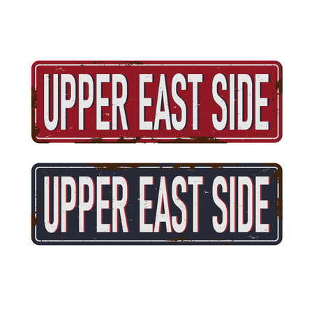 Welcome to Upper East Side New York vector rusted sign