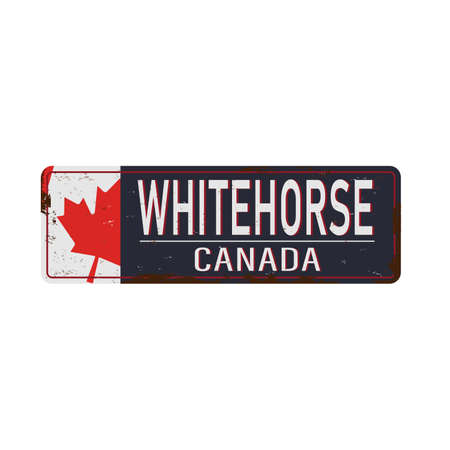 Grunge sign with the text Canada, Whitehorse, vector illustration. 版權商用圖片 - 136894293