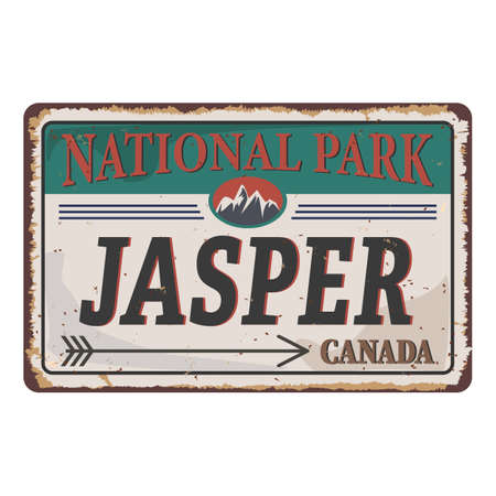 Jasper National Park Canadian mountains icon. Simple illustration of Canadian mountains vector icon for web