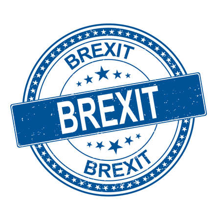 Brexit stamp. brexit sign. britain leaving eu. Ilustração
