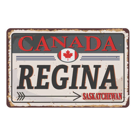 An Sign Road of Canada REGINA, vector art image illustration